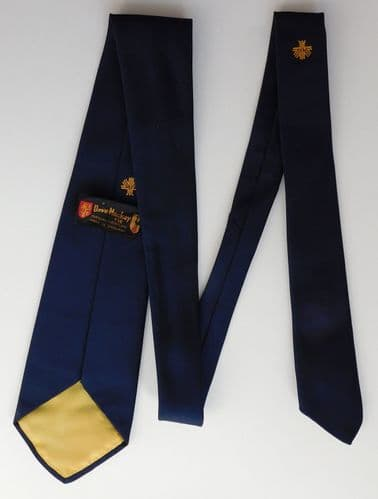 V Tree Corporate logo tie by Dave MacKay 1980's English Made Terylene Crimplene